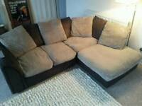 Lovely cord corner sofa - can deliver