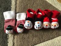 Baby Christmas socks 0-3 months
