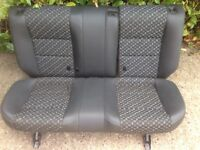 MG ZR car rear/ back seats half leather black and grey colouring, URGENT!