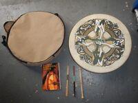 cased bodhrun drum