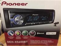 Pioneer car stereo, Bluetooth, USB, iPod/phone