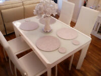 dinning table and x4 chairs