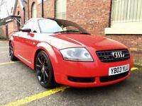 2003 Audi TT 225 1.8T Quattro. Red. Low Miles. Drives Superb. Full MOT