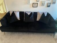 4 seater sofa and accent chair with scatter cushions - 6 month old