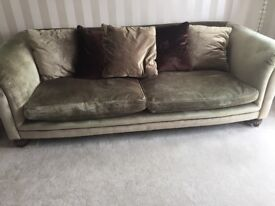 Large roll top sofa good condition