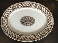 Large retro serving plate