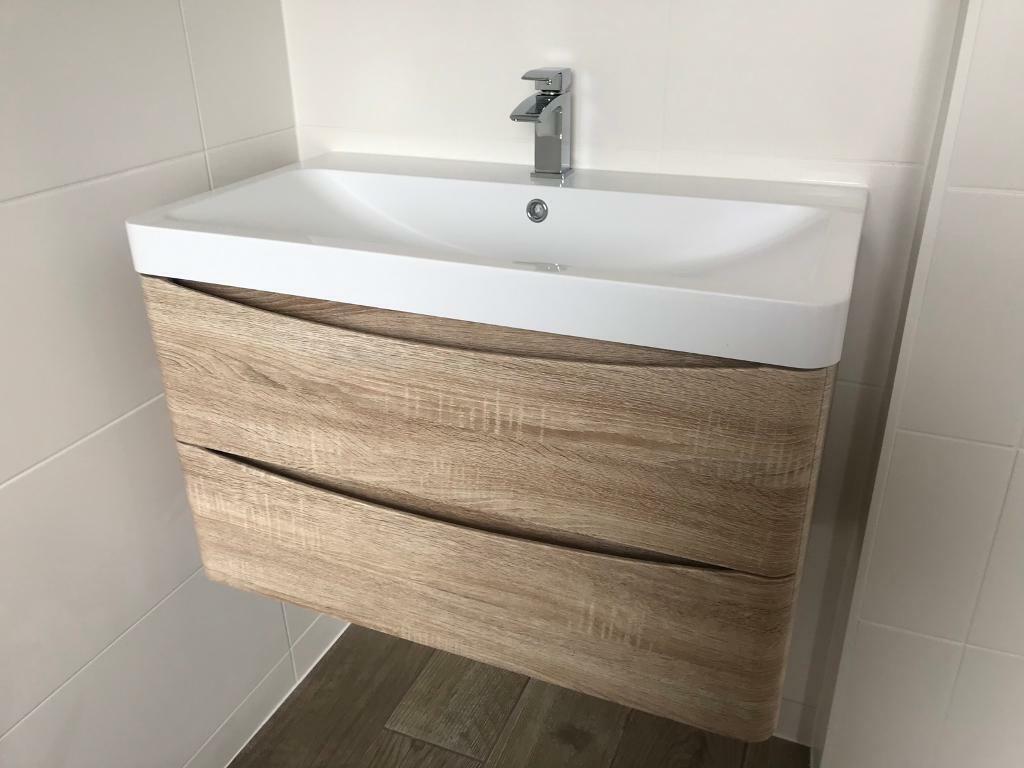 Wall Hung Sink Unit In Oak Brand New Norwich Norfolk Gumtree