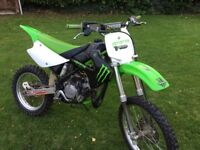 Kawasaki kx85 big wheel 2007 !