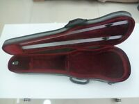 QUALITY VIOLIN CASE WITH PLUSH INTERIOR FOR SALE - EXCELLENT CONDITION - ZIPPED SHEET MUSIC POCKET.