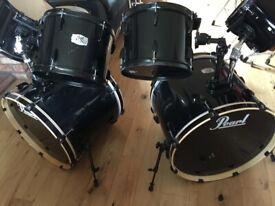 Pearl Export Jet Black Drum Kit