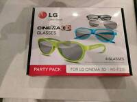 Lg 3D glasses party pack