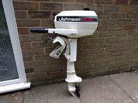 Johnson Sea Horse. 4hp. Short Shaft Outboard Motor. In good condition.