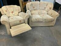 FABRIC SOFA SET in EXCELLENT CONDITION 2+1 seater ELECTRIC RECLINER ARMCHAIR