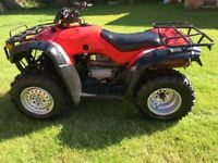 2005 honda quad trx350 5 speed+rev good alround condition repainted + waxoiled,£2000