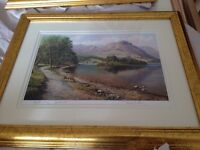2 gilt framed & signed pictures by Paul Harley.