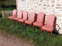 Six Dining Chairs including 2 carvers from JH Suttcliffe and Sons