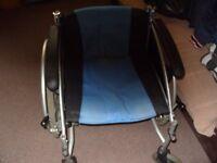 One lightweight aluminium fold-up wheelchair
