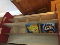 Red/Oak Children's Bookcase (Traditional/Library Style)