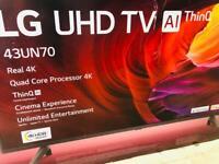 "43"" LG SMART TV 4k £289"