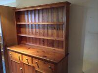 Large pine kitchen dresser VGC