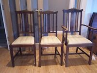 3 victorian dining chairs.