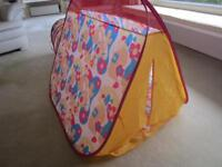 Children's Flower Tent with Tunnel