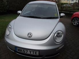 VW BEETLE LUNA 2007 SILVER 1600 LOW MILEAGE 39000 FULL 1YEAR MOT .LADY OWNER, IMMACULATE