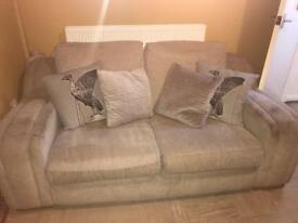 Beige Double Seater Sofa
