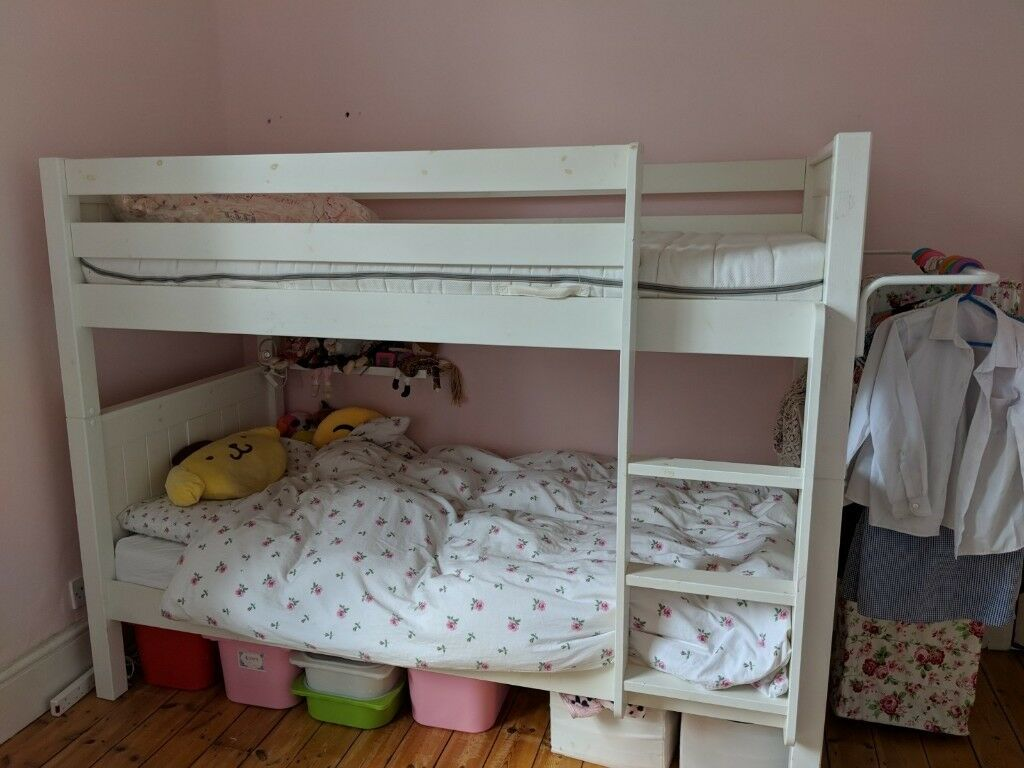 Bunk Bed White Solid Wood Stompa In Barnet London Gumtree