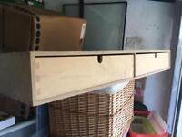 Wooden drawer box set