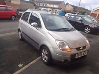 2009 Chevrolet Matiz 1.0 SE 5 Doors Silver low millage only 48000 miles in good engine