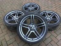 """GENUINE BMW 19"""" staggered 313M M SPORT PERFORMANCE Alloy Wheels and Tyres."""