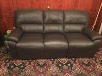 4 lots of 3 Seater Recliner Leather Sofas from Harvey's Furniture
