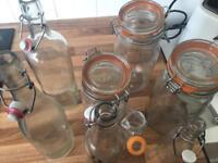 Glass Kilner Jars & Bottles