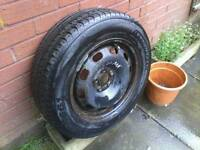"15"" vw steel wheel / part worn tyre £10"