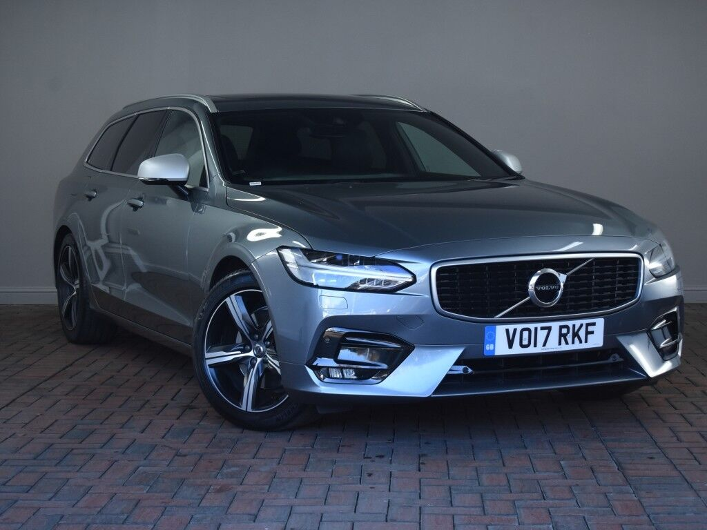 volvo v90 2 0 d4 r design electric pan roof winter pack low tax 5dr geartronic a grey 2017. Black Bedroom Furniture Sets. Home Design Ideas