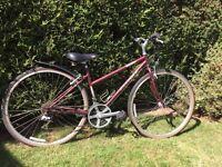 Ladies bike, 17 inch frame, suit smaller lady.