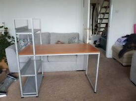 Office / bedroom desk with attached stand.