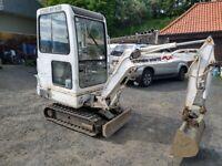 Daewoo Mini Digger 1.5 Ton Excavator - Low hours - No Vat