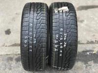 2 part worn tyres 225/45/17 NOKIAN WR