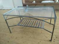 Metal/Glass Industrial Style Coffee Table