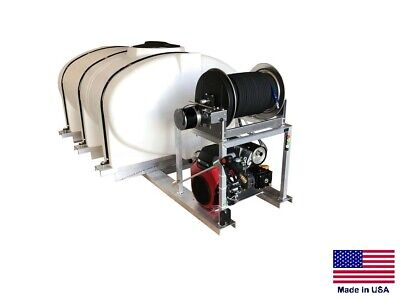 Pressure Washer Commercial - Skid Mounted - 8 Gpm - 3000 Psi - 500 Gallon Tank