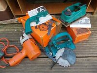 Black & Decker drill sander and circular saw with all instruction and parts