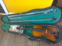 Violin, Case and Accessories