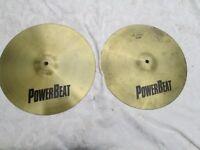 """Cymbals - PowerBeat 14"""" Hi hat Cymbals"""
