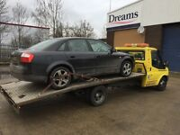 24/7 Vehicle Recovery Transportation Service Scrap Cars Bought for Cash £££ Colchester Essex Copart