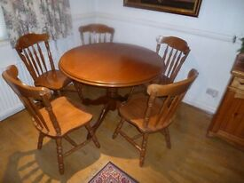Round table and 5 chairs