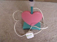 Table lamp unusual pink heart shaped ideal bedroom living room