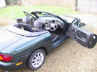 Mazda MX-5 1.6 convertible 1998. Great motor for the summer.