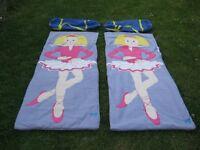 Two Fleece Snuggle Sac Sleeping Bags, £10.00 each